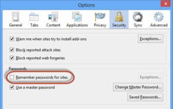 Xóa mật khẩu facebook đã luu trên máy tính