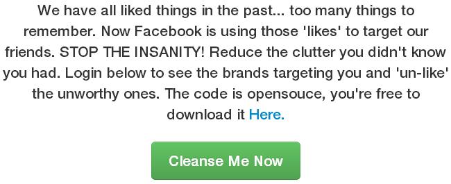 Xóa sạch Like Facebook với Like Cleanser