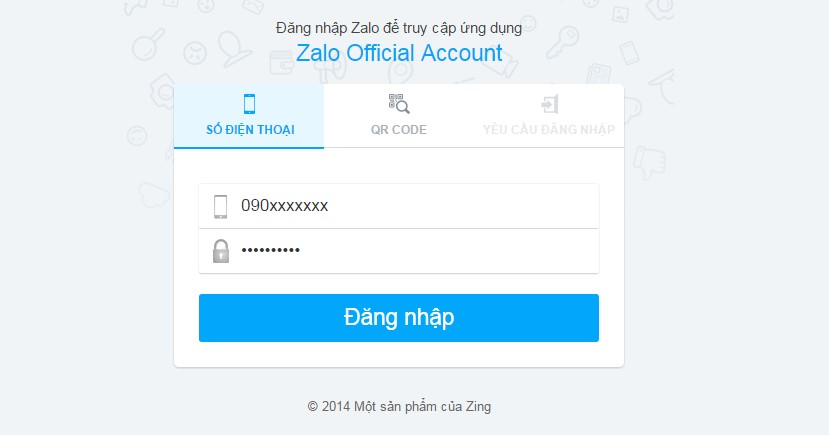 Tạo Menu đến Zalo Store trên Zalo Official Account