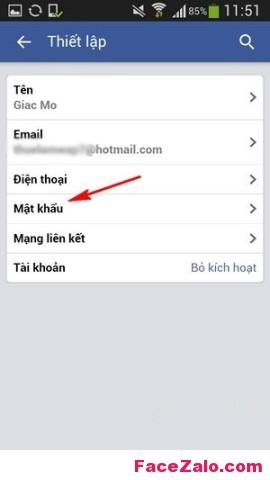 Làm sao đổi Mật khẩu Facebook trên điện thoại?