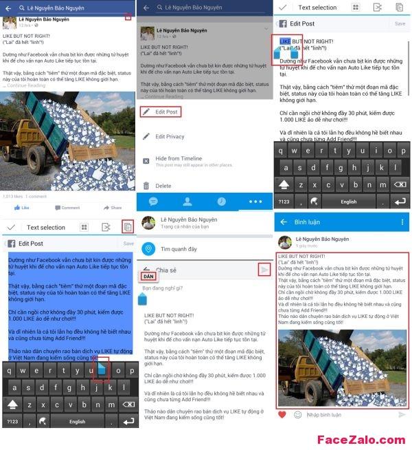 Cách đăng bài từ Zalo sang Facebook và ngược lại