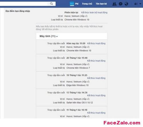 Làm sao biết Facebook có bị ai xâm chiếm hay không?
