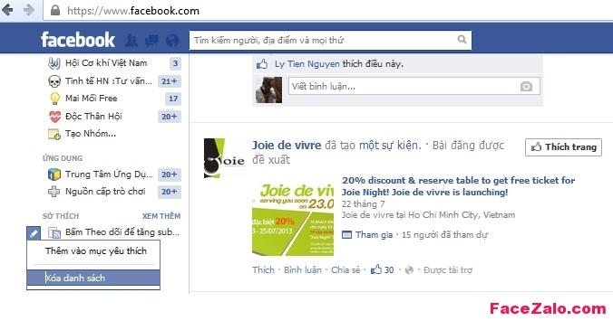 Bỏ theo dỏi các nick Facebook lạ