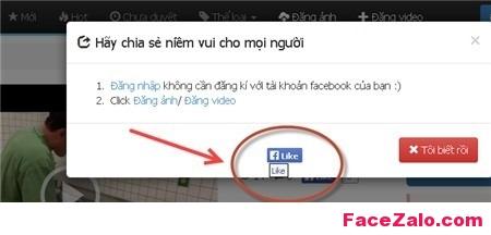 web có nhúng mã JavaScript tự động like Fanpage Facebook