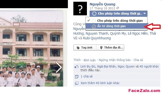 Cách để bỏ Tag ảnh trên Facebook
