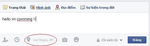 Đổi địa điểm đăng bài trên Facebook | Thay vị trí Facebook
