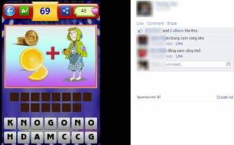 Mang câu hỏi game bắt chữ lên Facebook hoặc Google+