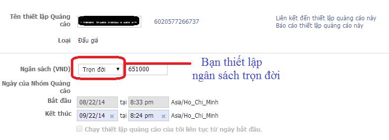 Phương pháp đặt thời gian quảng cáo Facebook