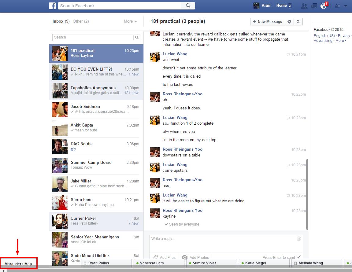 theo dõi vị trí Facebook messenger