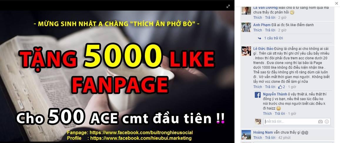 Fake Like chạy quảng cáo Facebook