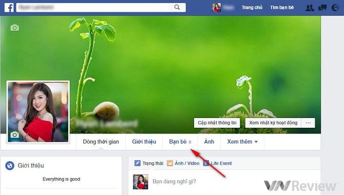 Dấu việc mình vừa theo dõi (Follow) người khác trên Facebook