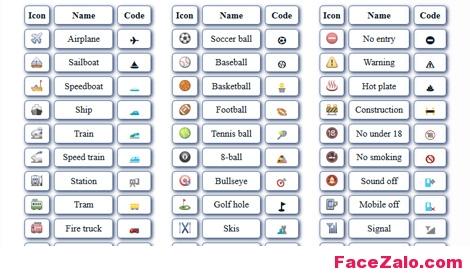 Full bộ kí tự icon Zalo - Game - Facebook độc đáo và cute nhất!