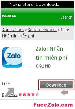 Zalo cho điện thoại Nokia