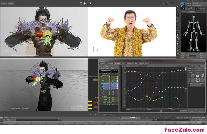 phần mềm 3DSMAX mô phỏng các chuyển động