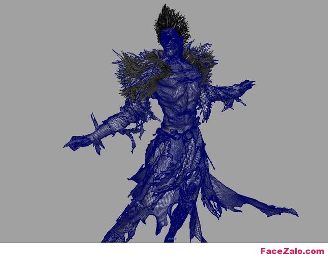 Dựng hình 3D nhân vật Ryuk - Pico Taro