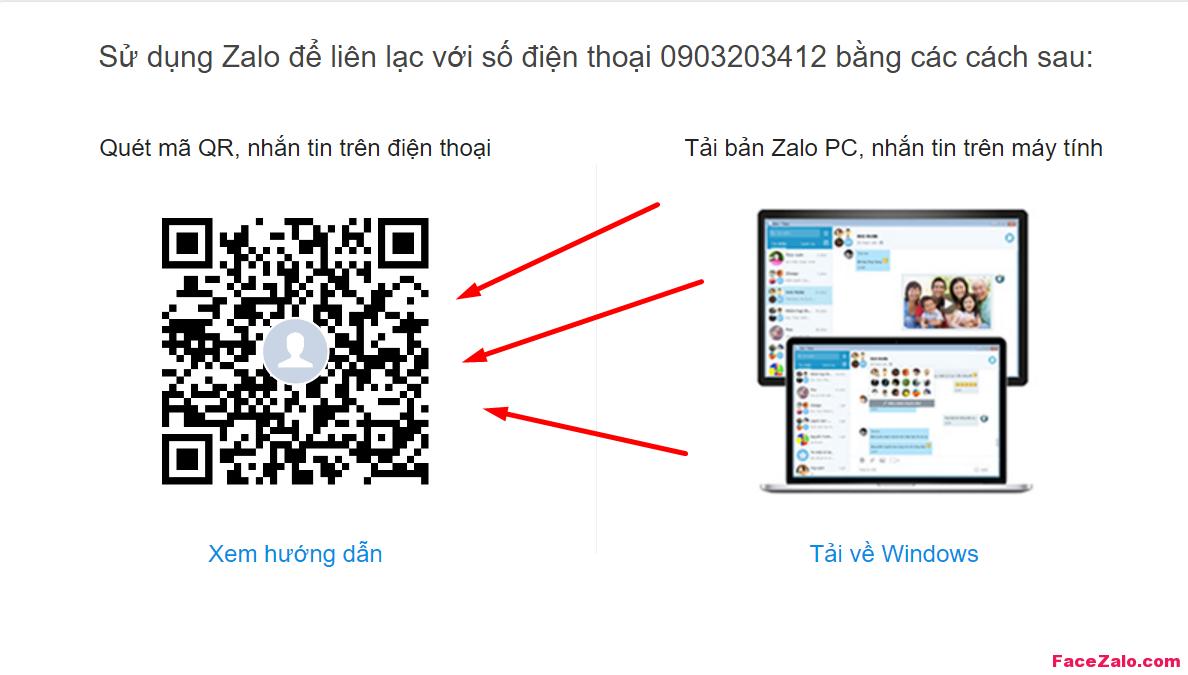 Gõ số điện thoại theo sau dòng địa chỉ trang cá nhân Zalo : http://zalo.me/0903203412 , nếu có nick Zalo tương ứng sđt ấy