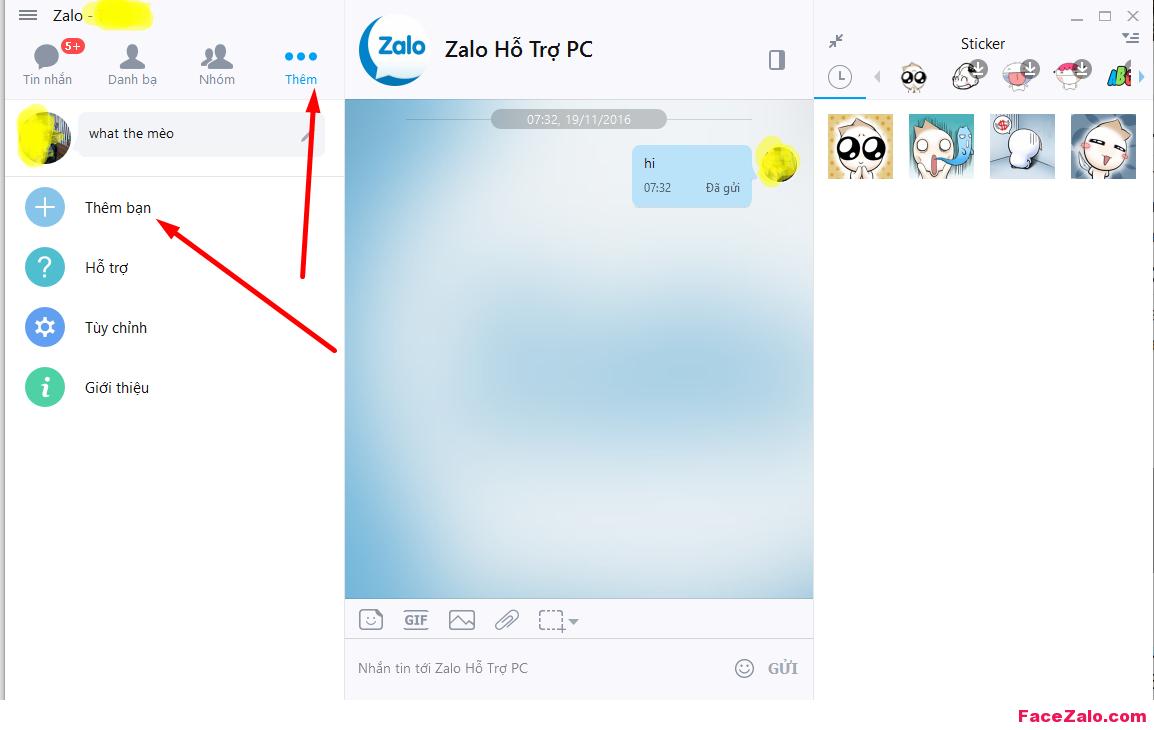 Thêm bạn Zalo pC, tìm nick Zalo bằng số điện thoại người khác